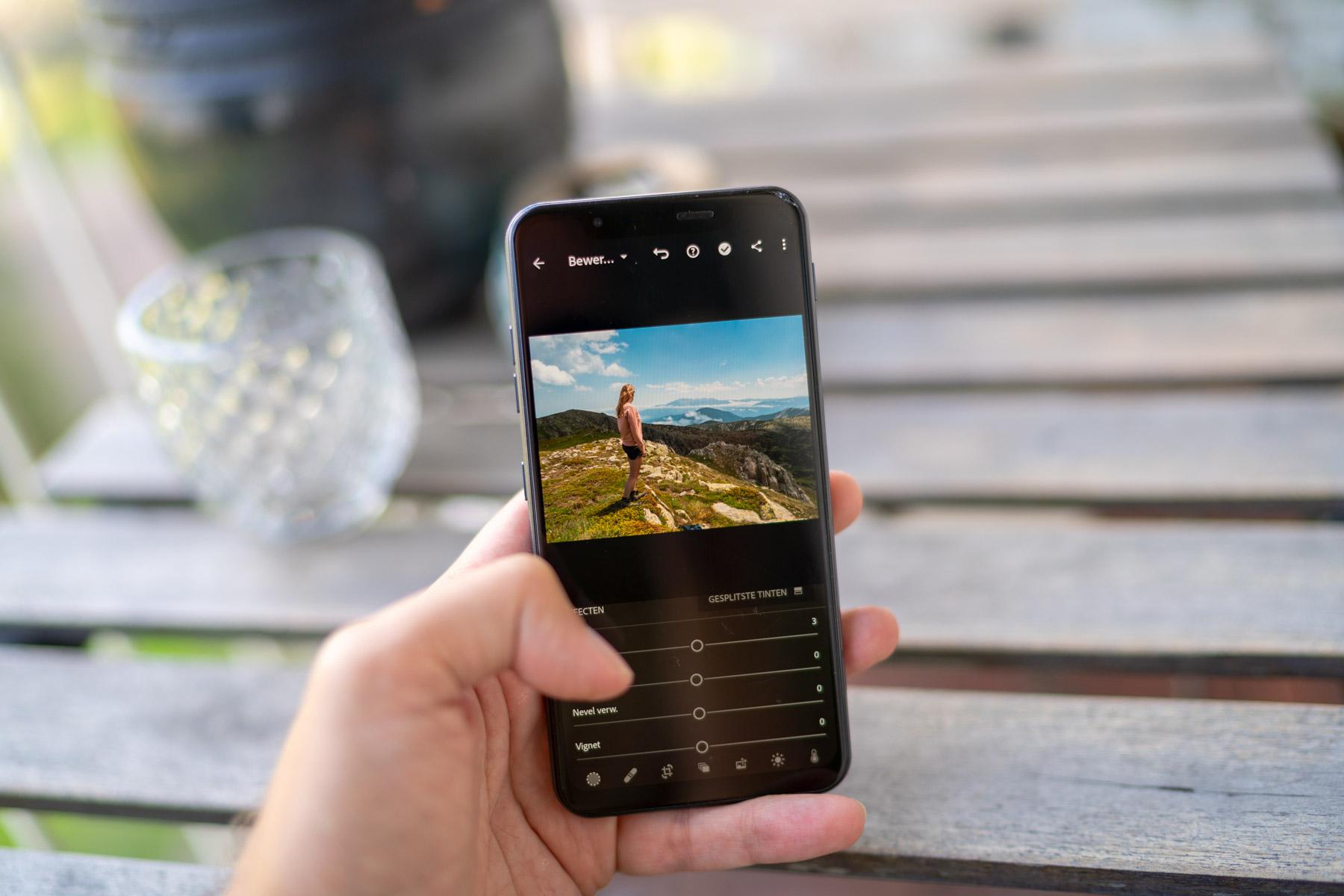 Foto's bewerken op je smartphone met een (gratis) app